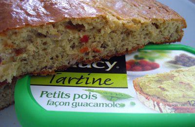 Gâteau au thon et petits pois façon guacamole