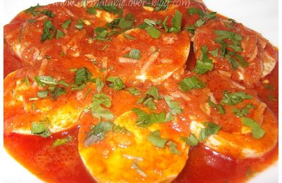 Oeufs Durs en Sauce Tomate (Chtitha Beid)