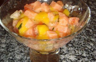 Le tartare de saumon de Wahbi