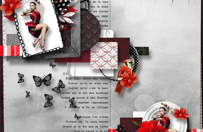 Red Touch Collab by Florjuscrap et Doudou's design (free newsletter)