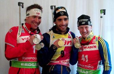 Mondiaux de biathlon hommes : Fourcade et encore Fourcade