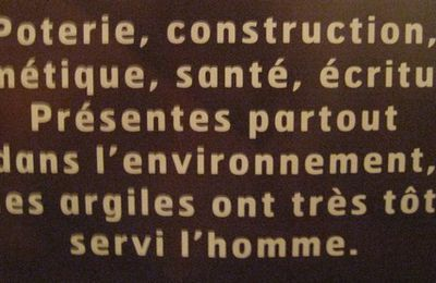 L'argile et la construction, exposition 'Argiles, histoire d'avenir'