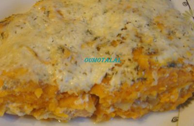 Gratin de patates douces au saumon