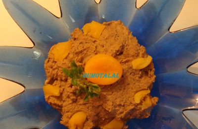 Mousse de foies de volaille aux abricots et orange
