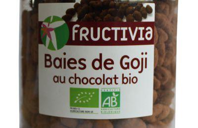 Nouveauté chez Fructivia : du goji bio enrobé de chocolat noir !
