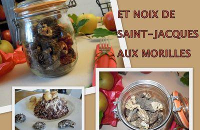 FILETS de SOLE et NOIX de SAINT-JACQUES aux MORILLES