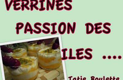 VERRINES PASSION DES ILES