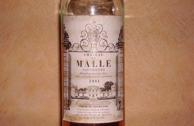 Château de Malle 1981 Grand Cru Classé de Sauternes
