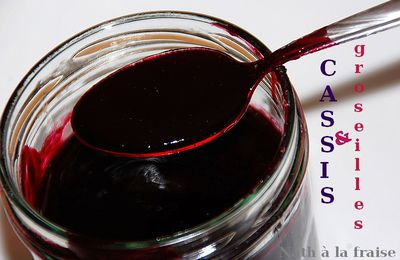 Confiture express cassis / groseilles (au Thermomix)