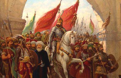 Le Sultan et les chrétiens lors de la prise de Constantinople par les Turcs en 1453