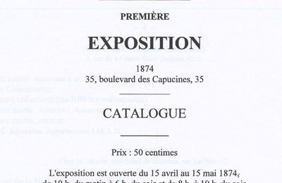 """Conférence à Orléans (45), à l'auditorium du Musée des Beaux-Arts, ce mercredi 19 novembre 2014, à 18h15, sur le thème : """" 1874, naissance de l'impressionnisme""""..."""
