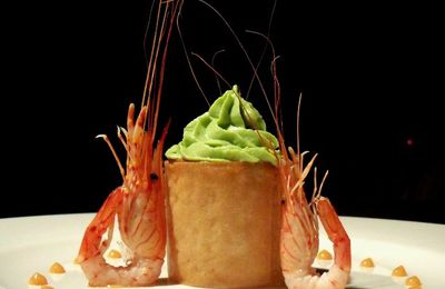 Avocat crevettes sauce cocktail... revisité en feuille de brick