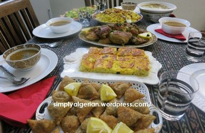 Ma table d'iftar ramadanienne