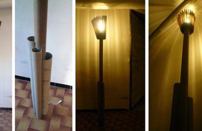 Lampadaire en carton
