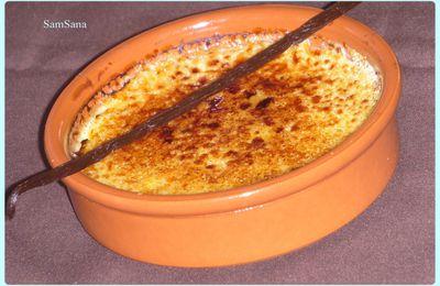crème brûlée à la vanille de Madagascar