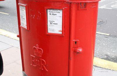 en Angleterre ... le courrier met un certain temps pour arriver!!