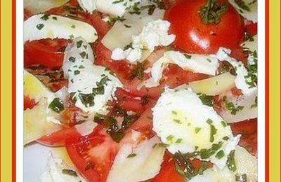 Salade méditerranéenne aux tomates et au fromage