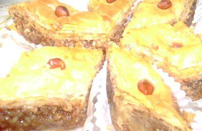 Baklawa a la pâte phyllo