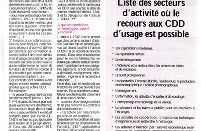 Article sur le CDD d'usage