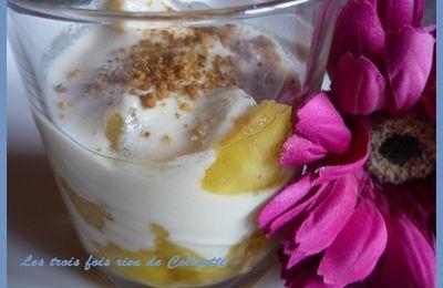 Verrines légère ananas / tofu soyeux