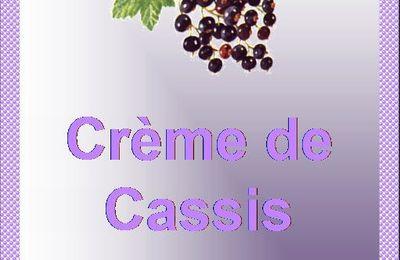 Etiquette Crème de cassis