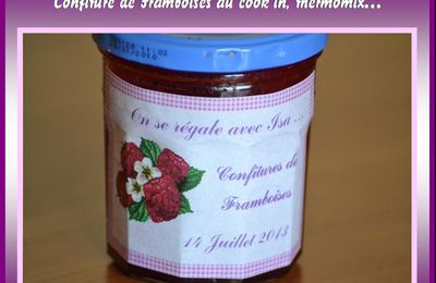 Confiture de Framboises au MyCook, Cook'in, thermomix...
