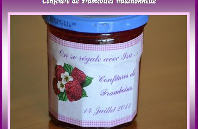 Confiture de Framboises traditionnelle