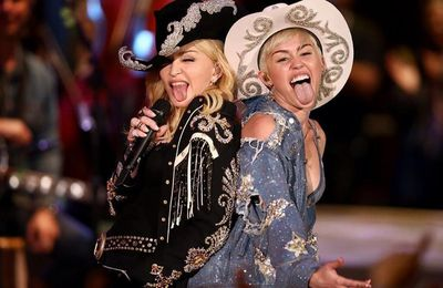 Madonna & Miley Cyrus - Don't Tell Me/We Can't - Stop Medley (Audio)
