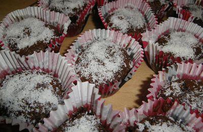 Cupcake chocolat-coco