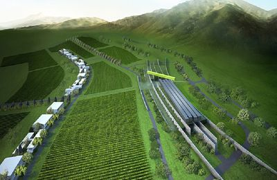 Projet Zhongkun Luoying Vineyard, Chine