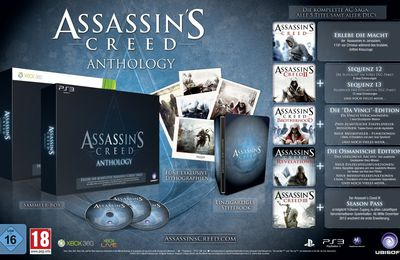 Assassin's Creed Anthology en coffret collector sur Ps3 et Xbox