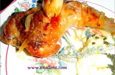 Pintade au Riesling et écrasée de pommes de terre à l'huile de truffe