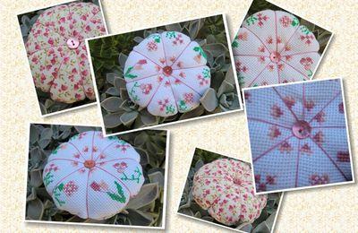 Citrouille Fleurs Roses...