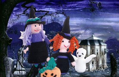 Halloween les petites sorcières, amigurumi au crochet