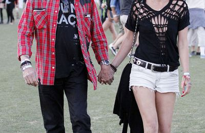 Photos : Johnny Hallyday et sa femme à Coachella Music Festival: Le 14 avril 2012