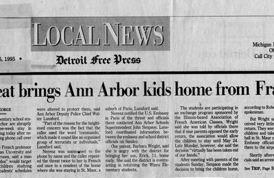 Menace terroriste: Saint Maur des Fossés/An Arbor Detroit Free Press Kids home