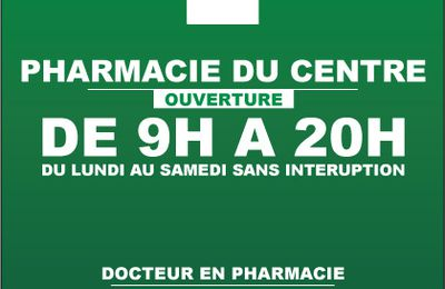 Plaque de presentation pharmacie