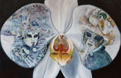 Orchidée (huile 80 x 80 cm)