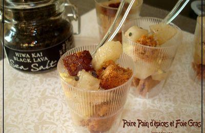 Verrines de Foie Gras et Poires aux épices