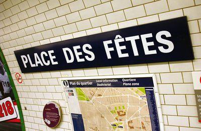 Paris 19ème - Métro Place des Fêtes