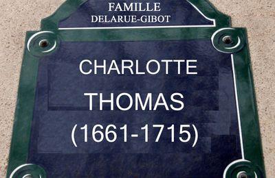 Charlotte THOMAS, un contemporaine du règne personnel de Louis XIV au mois près !