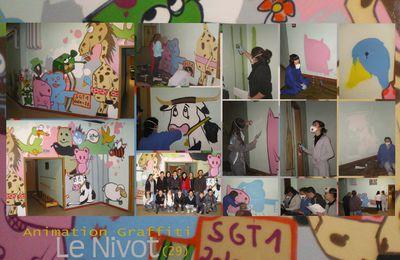 Animation Graffiti au Nivot (29) Merci à Thierry Cohard,Barbara Perron et au Lycée pour leur acceuil chaleureux.C'était un plaisir d'avoir des jeunes aussi sympas!