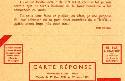 Quand Tintin démarchait de nouveaux lecteurs...