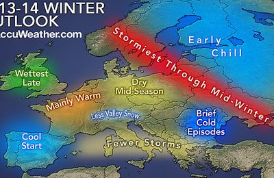 Europe winter outlook : Accuweather