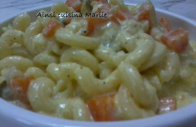 Pâtes aux légumes selon Aouicha