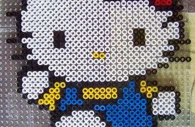 Perles Hama : Hello Kitty