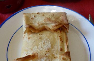 Crêpes soufflées au jambon et fromage