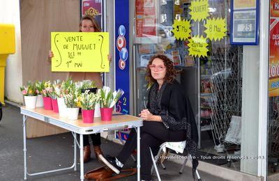 La Roche-sur-Yon. Le 1er mai des vendeurs de muguets.
