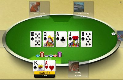 Quinte flush royale