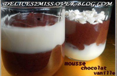 MOUSSE CHOCOLAT-VANILLE
